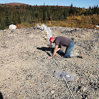 Channel sampling in Waste Pile - 2019